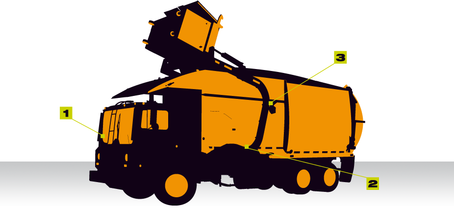 Garbage clipart industrial waste. On board weighing front