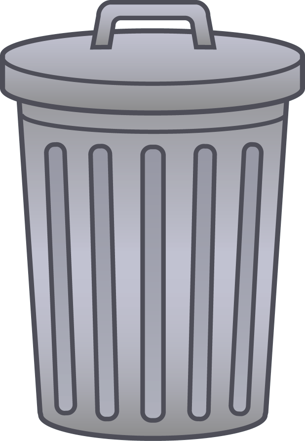 Garbage clipart information. Cartoon trash can free
