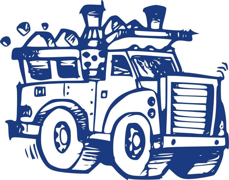 Truck by j p. Garbage clipart information