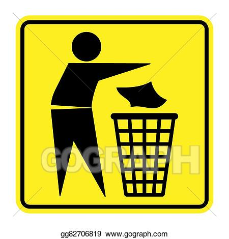 Garbage clipart information. Vector no trash sign
