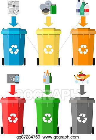 Garbage clipart information. Eps vector waste management