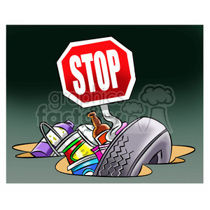 Stop littering trash on. Garbage clipart litter