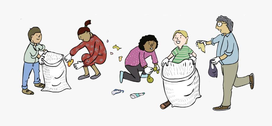 Trash picking up . Garbage clipart litter pick