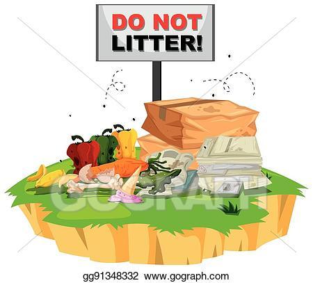 Eps illustration do not. Garbage clipart litter