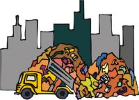 Garbage clipart mountain garbage. A of edhelper com