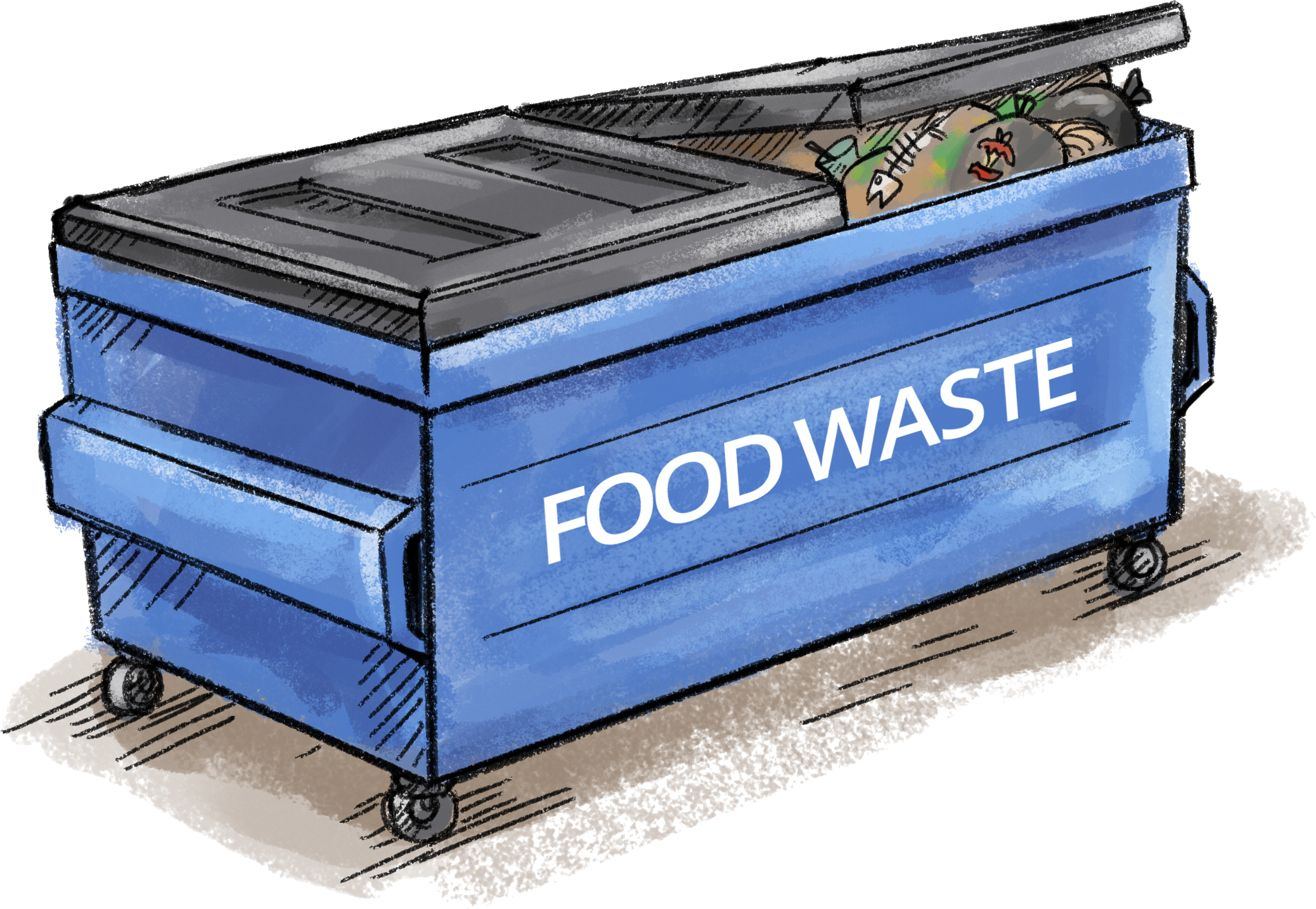 Garbage clipart organic waste. Food collection processing in