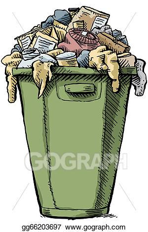 Garbage clipart overflowing. Stock illustration full illustrations