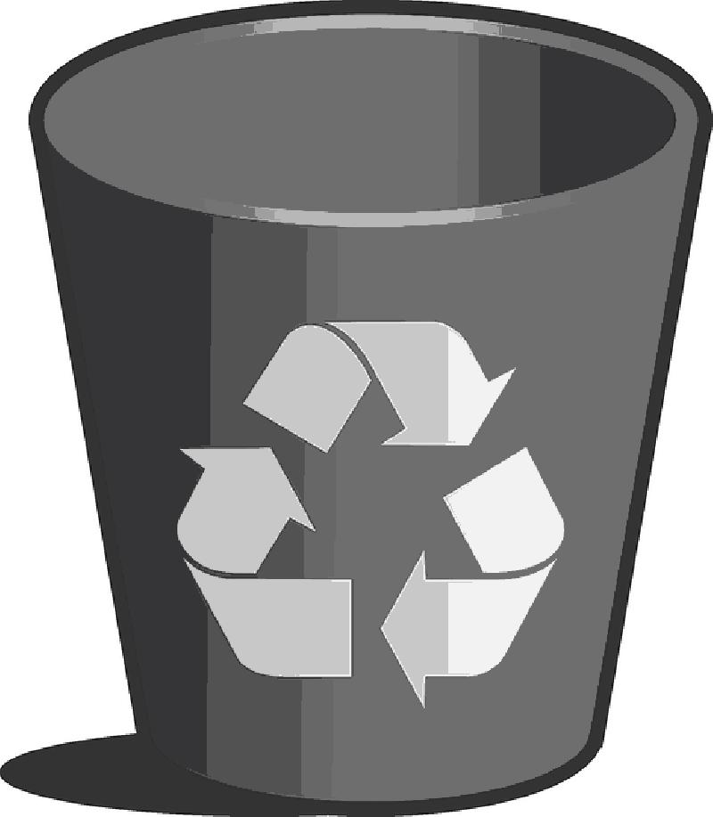 Garbage clipart paper. Recycle bin wastebasket wastepaper