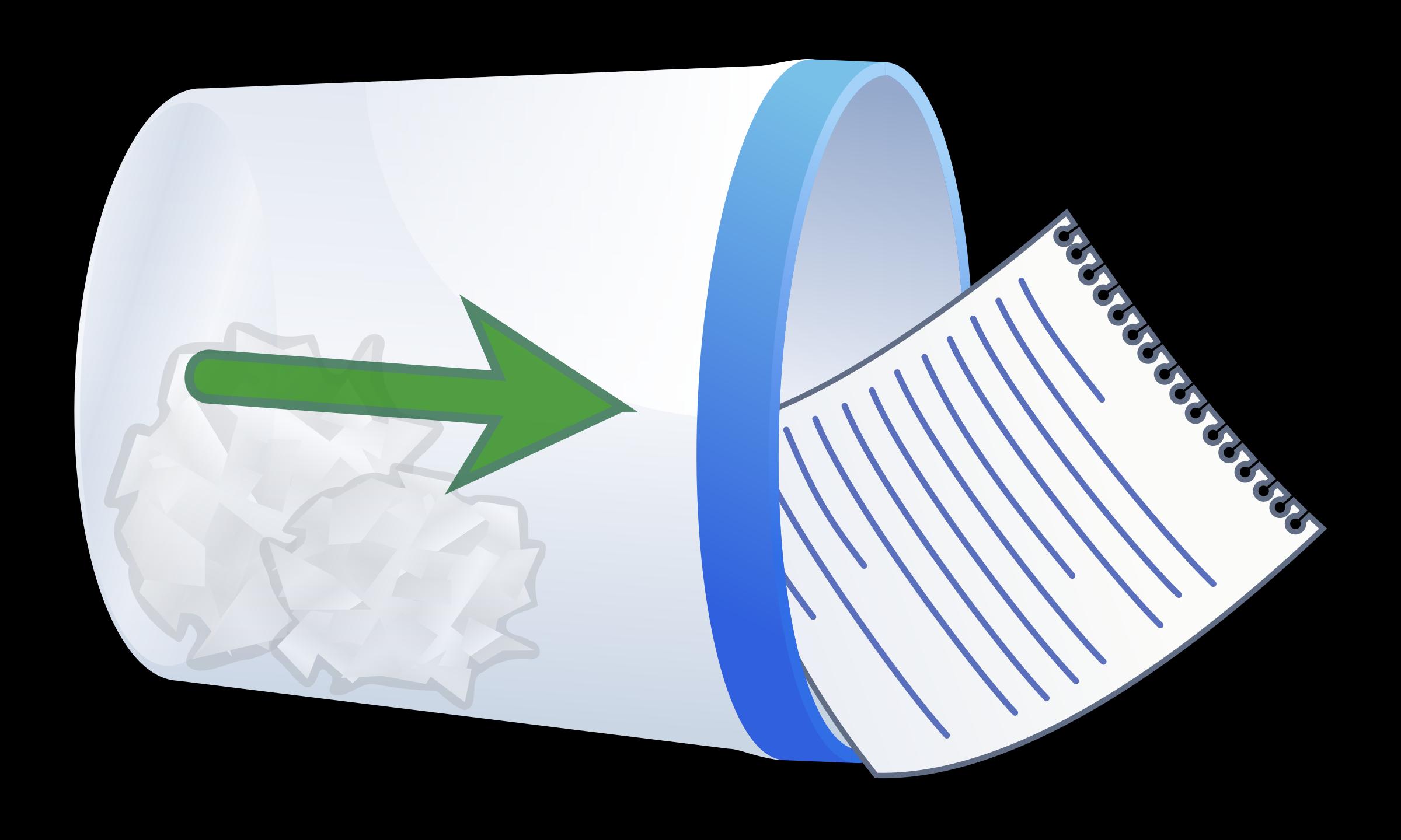 Trash bins big image. Garbage clipart paper
