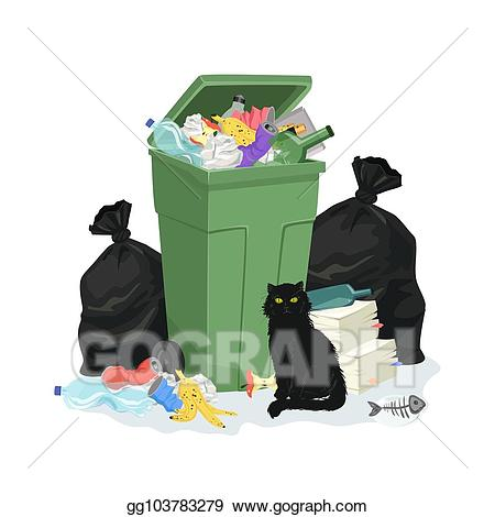 Clip art vector stack. Garbage clipart pile junk