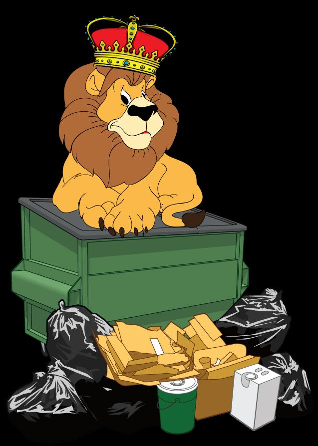 Garbage clipart pile junk. Debris king trash removal