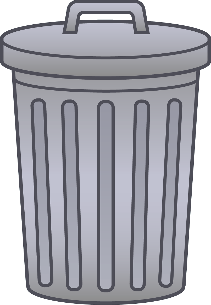 Garbage clipart plastic wrapper. Cartoon trash can free