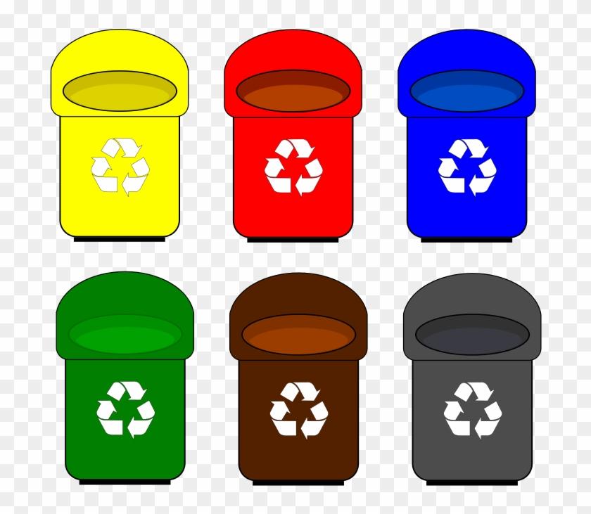 Trash can kawaii bins. Garbage clipart recycle bin