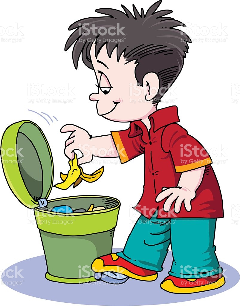 Throwing in the station. Garbage clipart river clipart