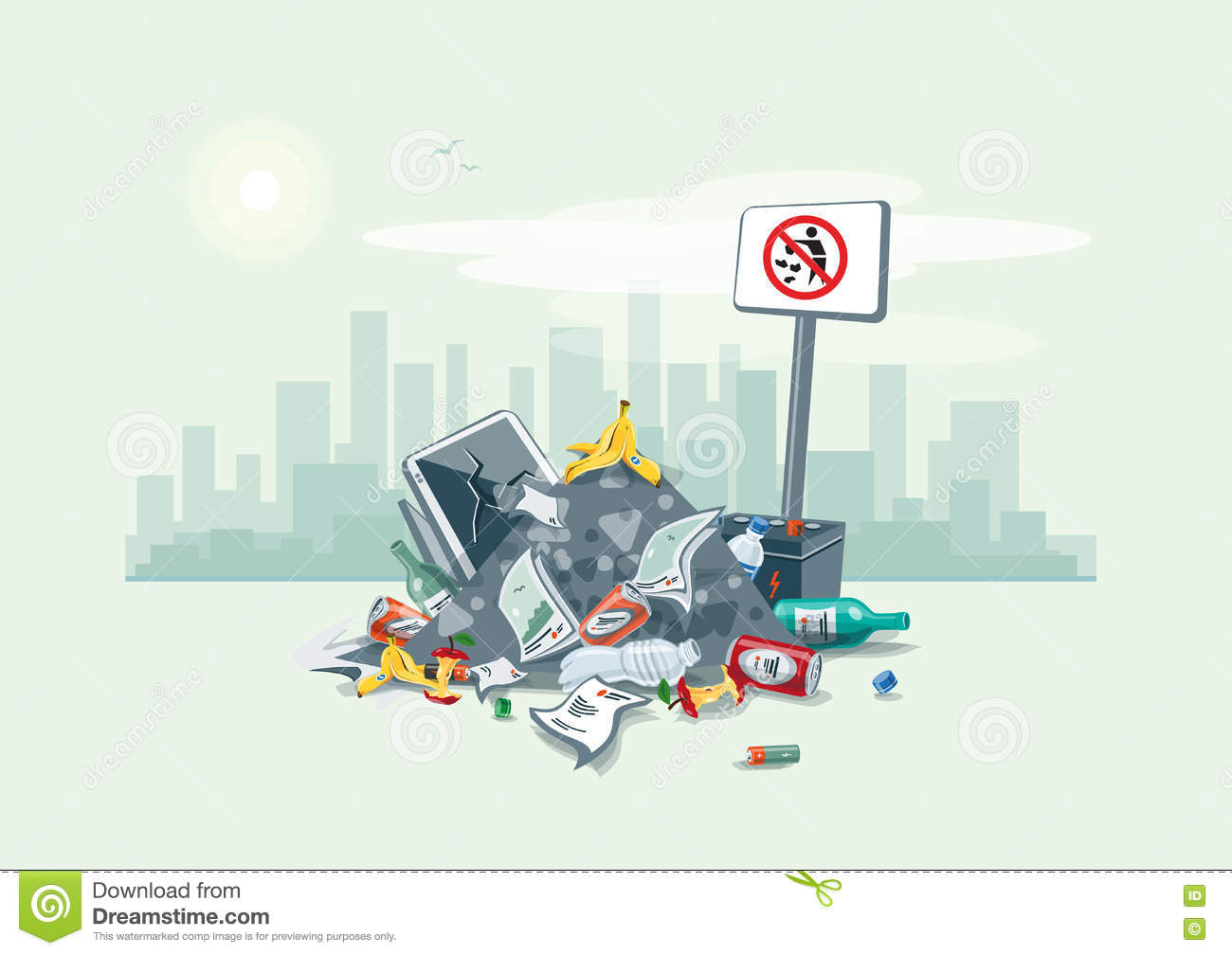 On portal . Garbage clipart road clipart