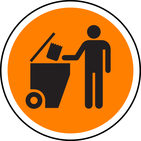 Waste sign clip art. Garbage clipart road clipart