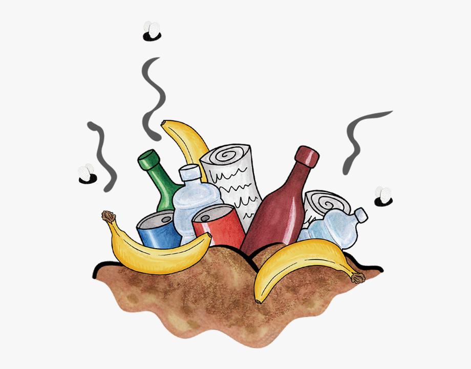 Food waste cartoon cliparts. Garbage clipart sanitary landfill