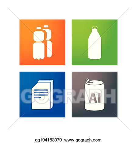 Garbage clipart separate. Vector art collection of