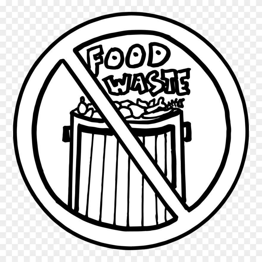 Drawing on food wastage. Garbage clipart sketch