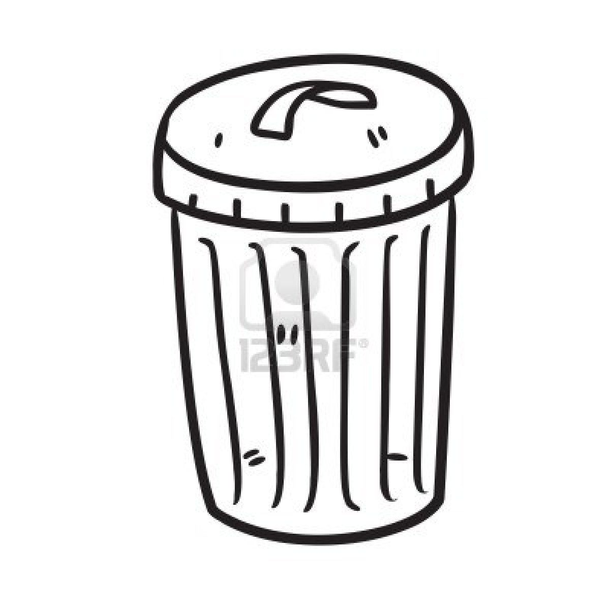 Stock vector trash cans. Garbage clipart sketch
