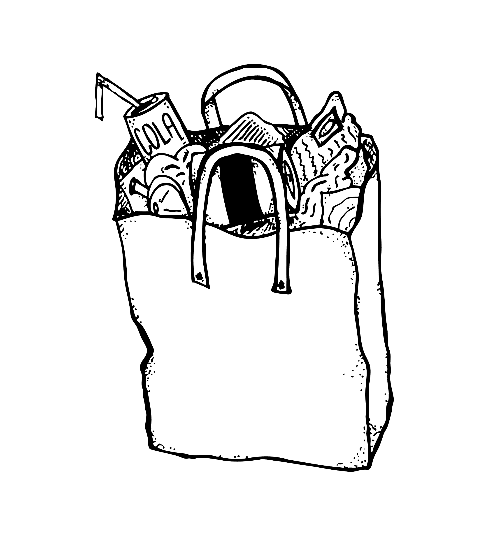 Garbage clipart sketch. Trash bag drawing at