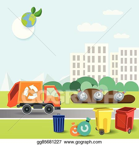 Vector stock truck removal. Garbage clipart track
