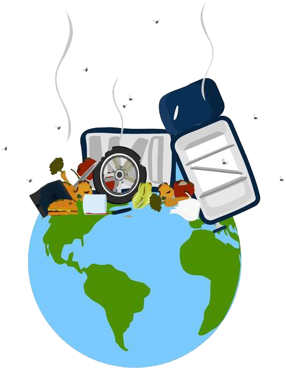 Earth municipal solid planet. Garbage clipart waste generation