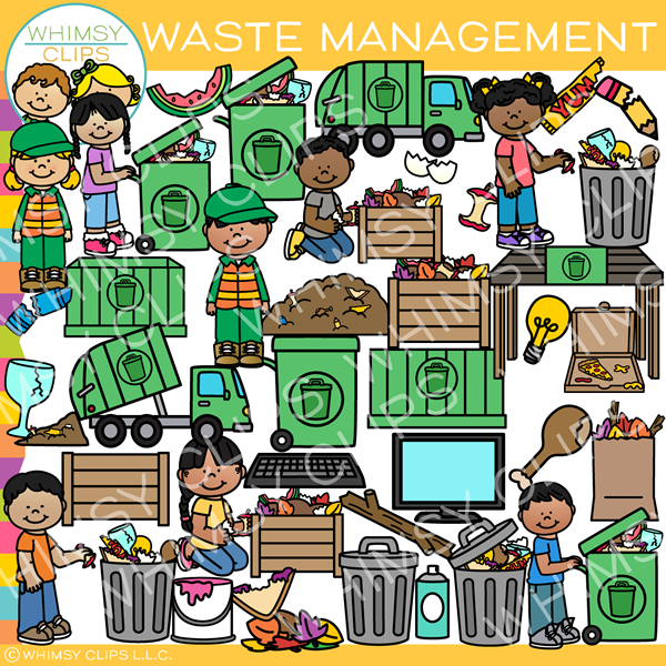 Garbage clipart waste material. Management clip art