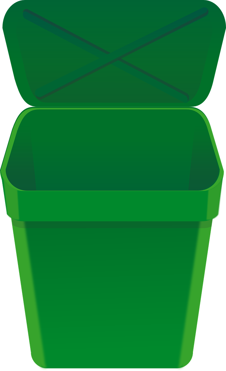 Bin can lid open. Garbage clipart waste reduction