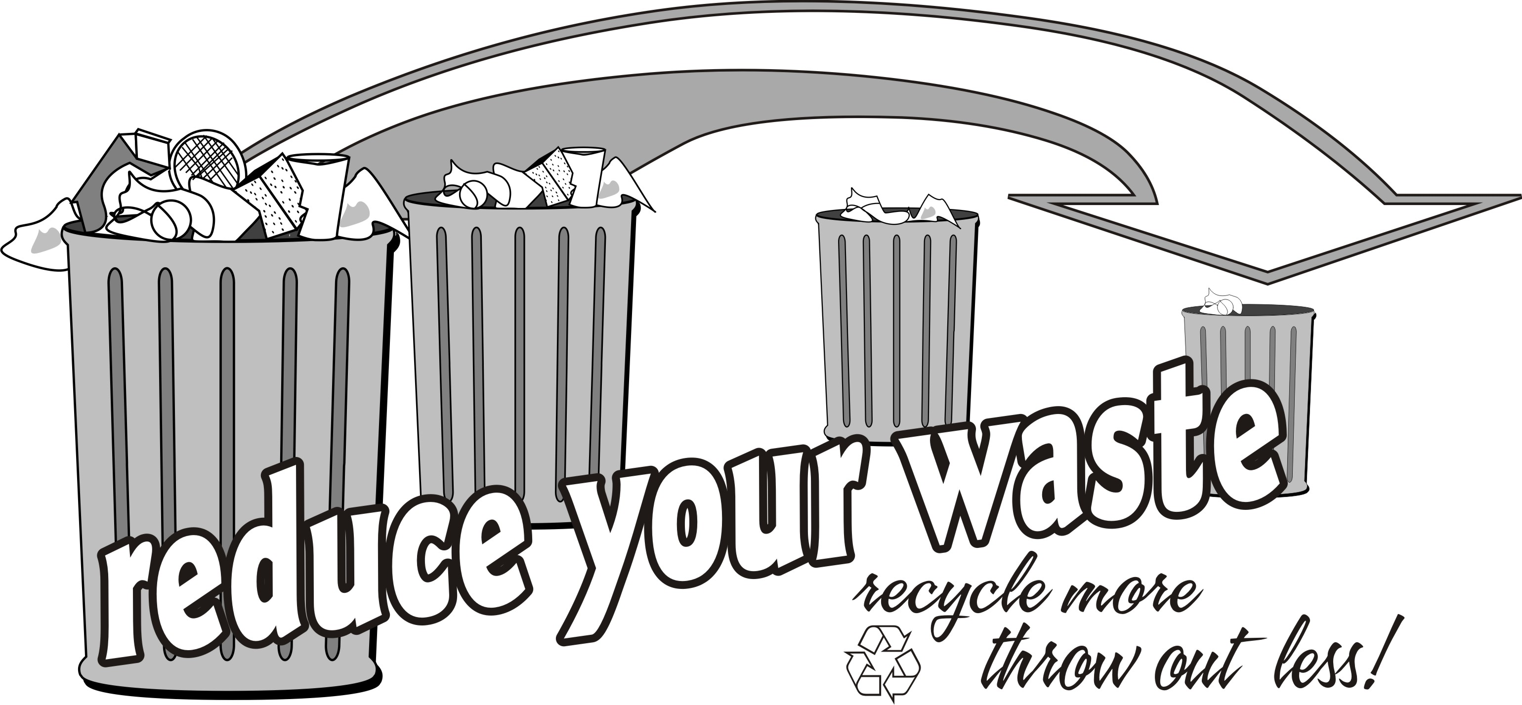 . Garbage clipart waste reduction