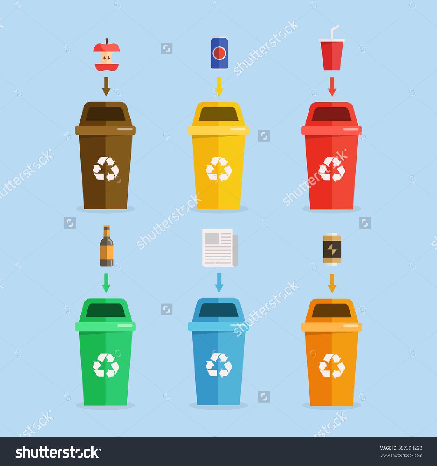 Garbage clipart waste separation. Management concept illustration segregation