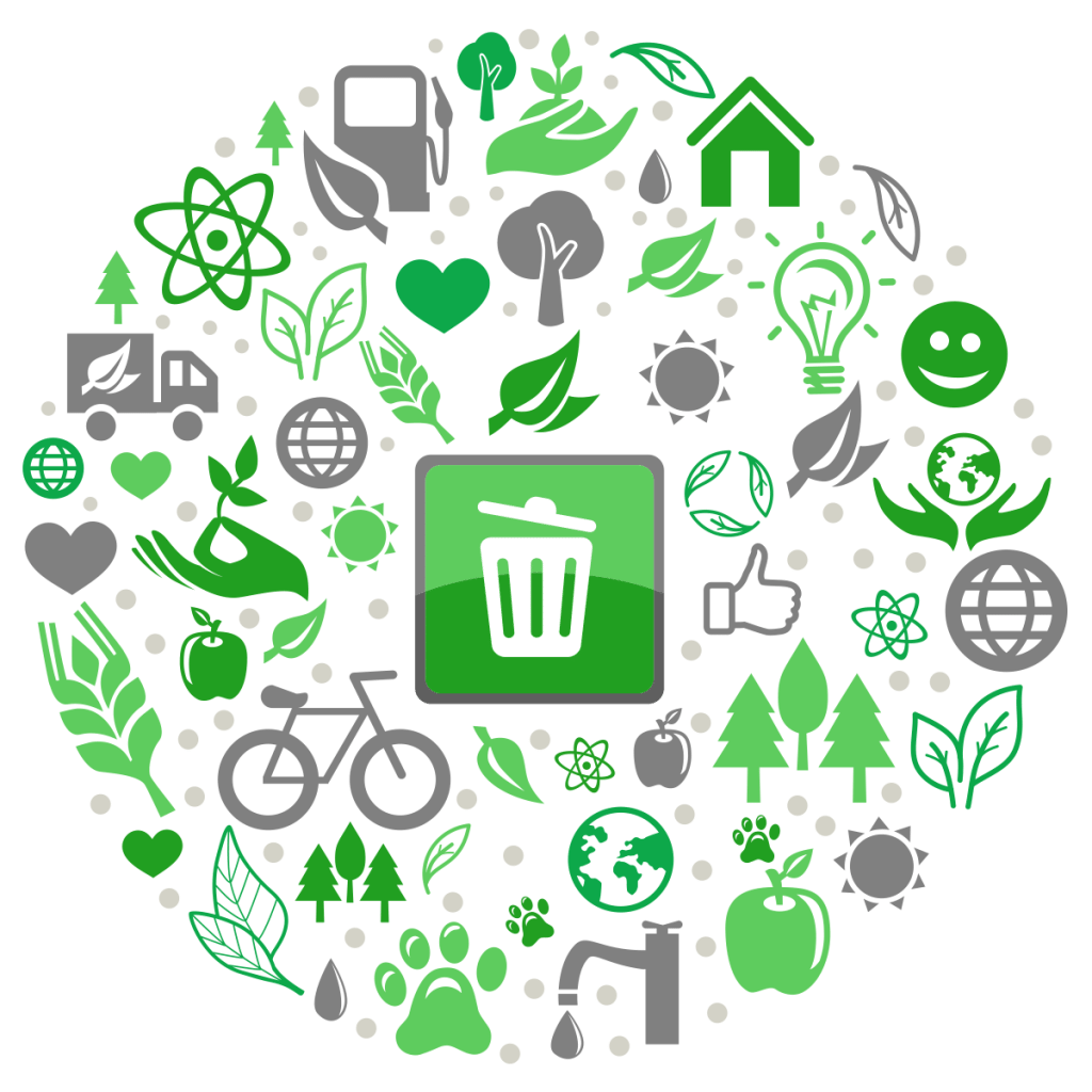 How to use recycling. Garbage clipart waste separation