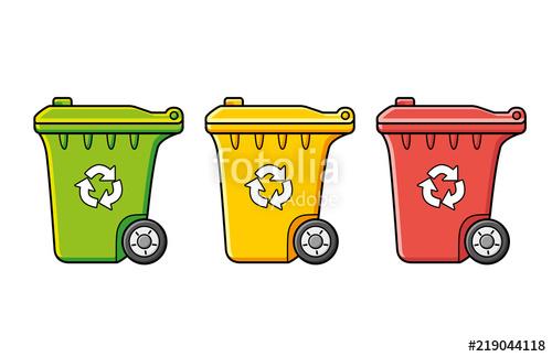 Garbage clipart waste separation. Recycling wheelie trash bin