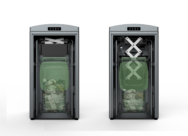 Solar powered trash compactor. Garbage clipart waste separation