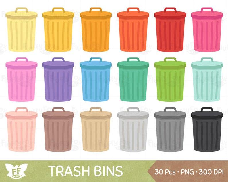 Trash bin can clip. Garbage clipart wastebin