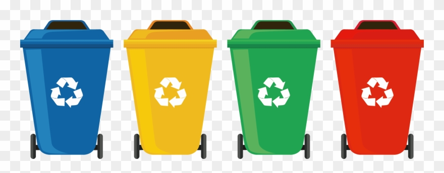 Recycle bins png transparent. Garbage clipart wastebin