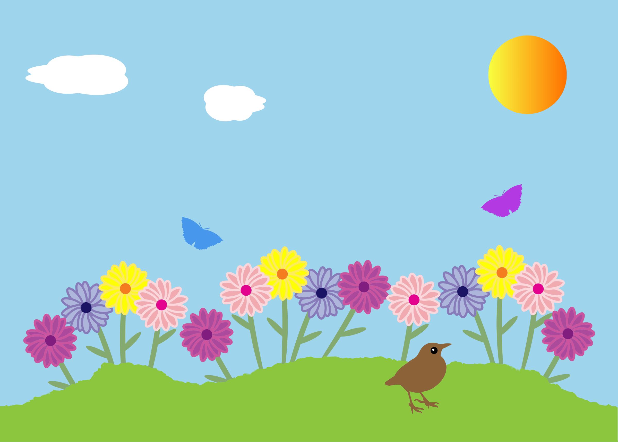 Free garden cliparts download. Gardener clipart flower bed