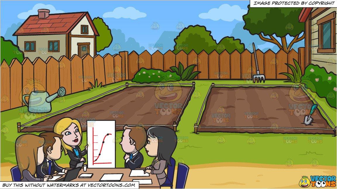 An important meeting at. Garden clipart backyard