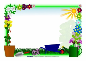 Primary area signs and. Garden clipart banner