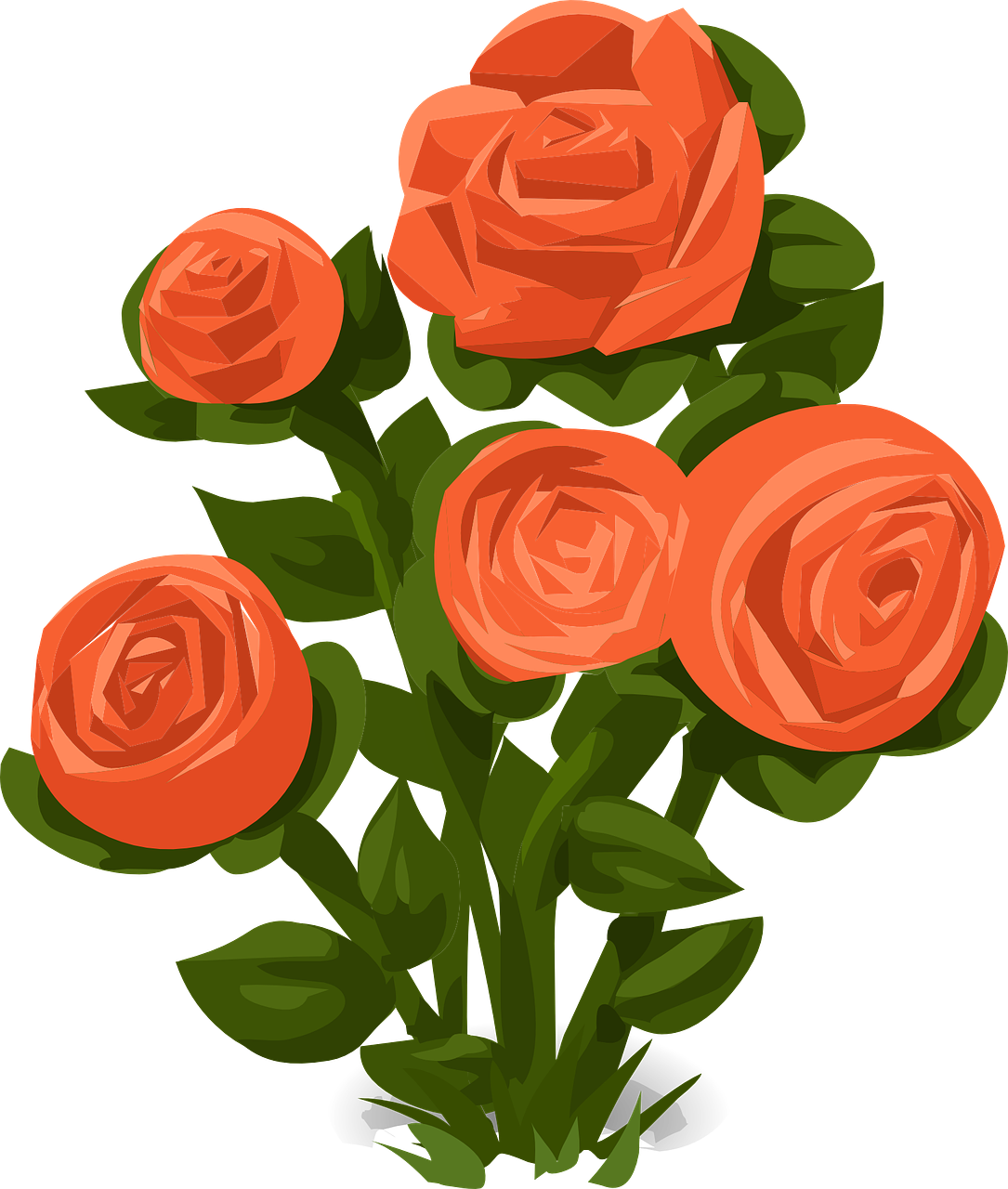 Garden clipart bush. Poetry month week the