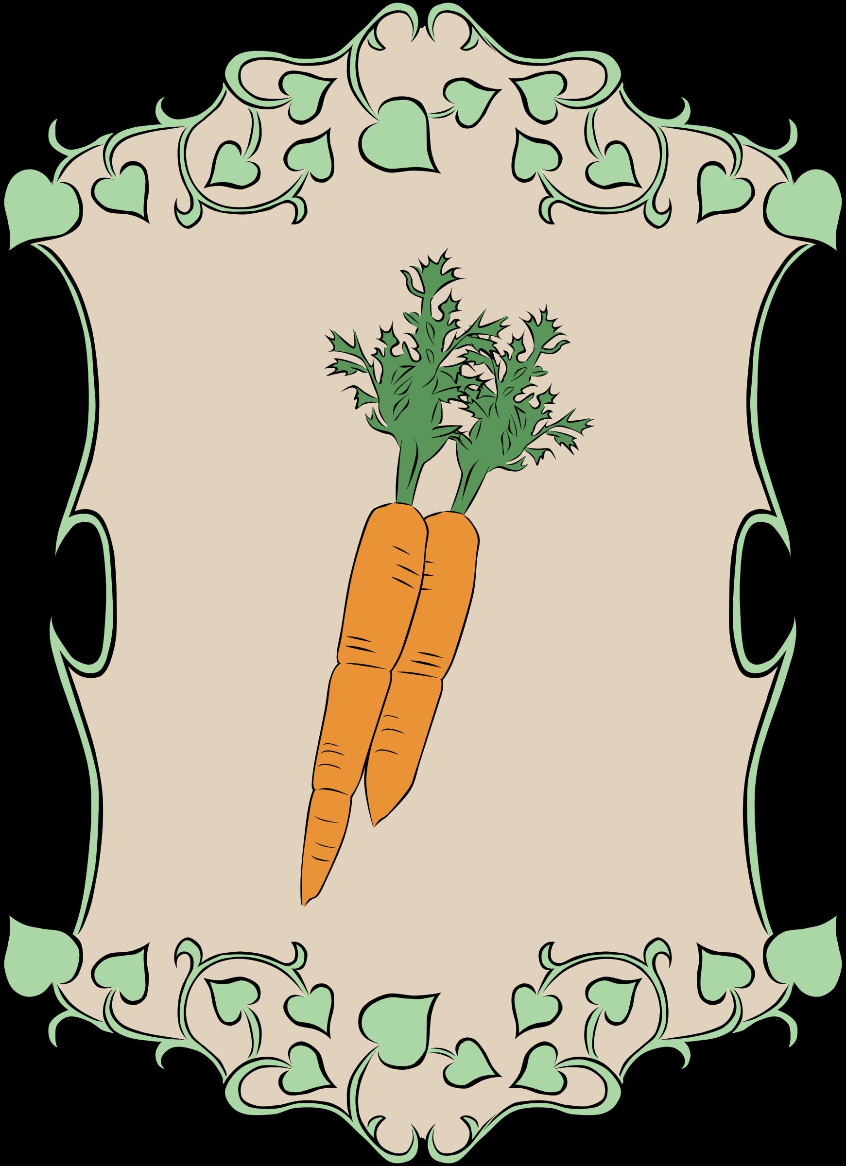 Sign carrots big image. Garden clipart carrot