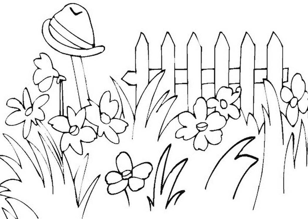 Garden line drawing clip. Gardener clipart outline
