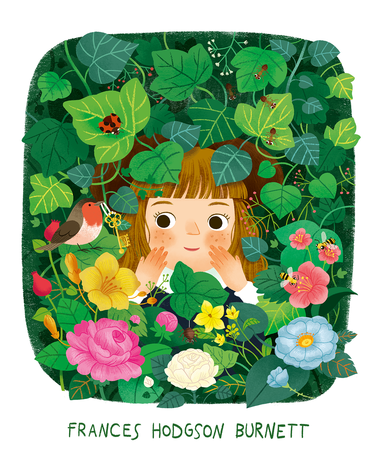 The on behance . Gate clipart secret garden