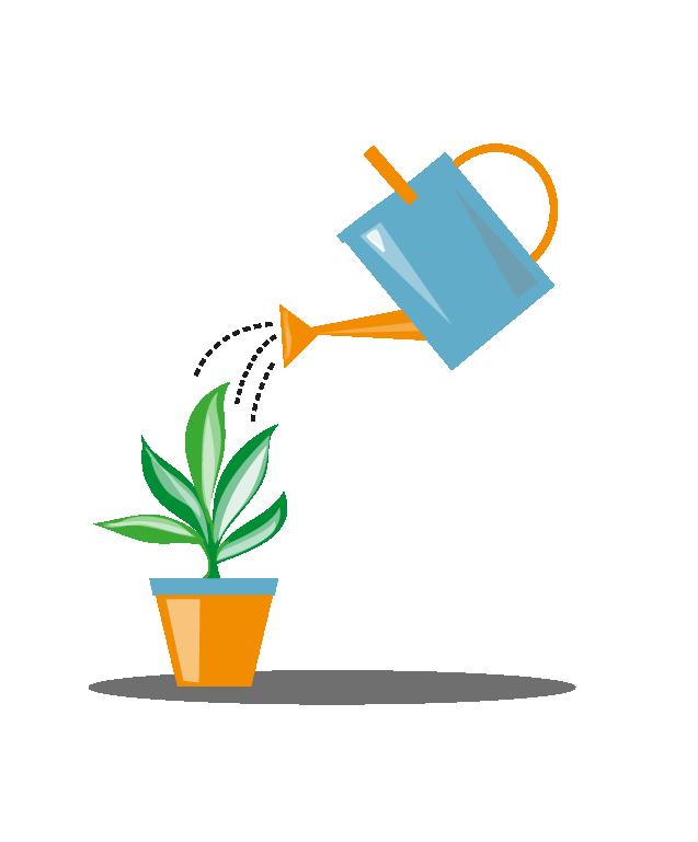 Garden clipart garden center. Watering can and plant