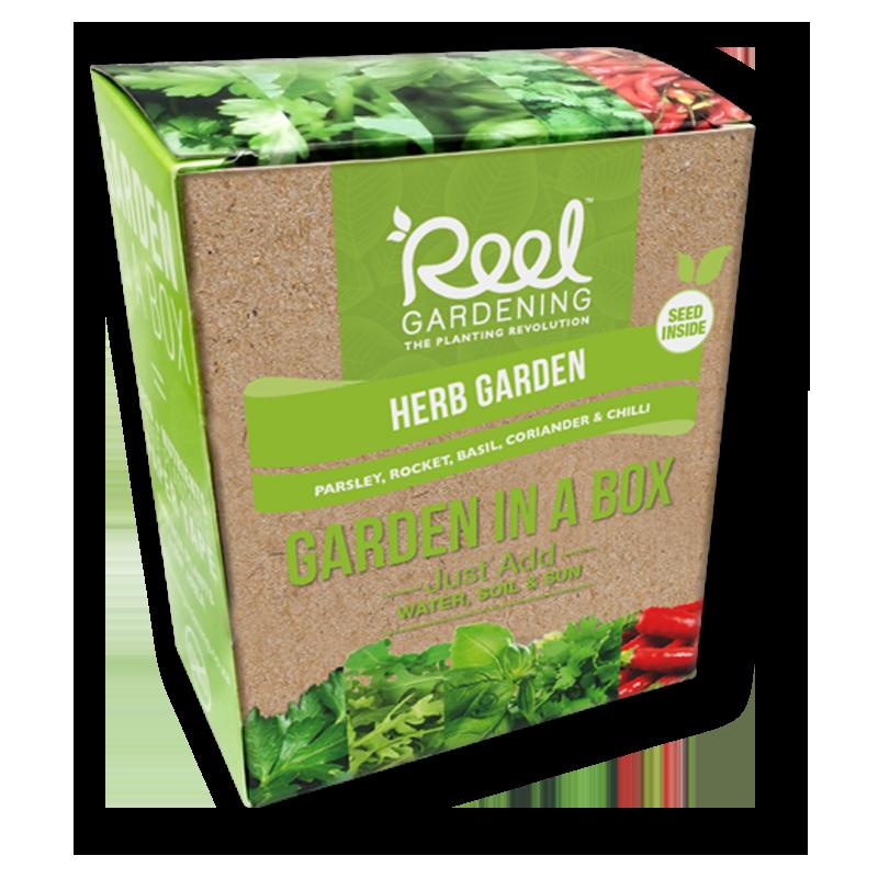 Reel gardening product range. Garden clipart herb garden