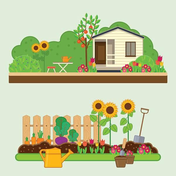 Garden clipart home garden.  landscape clip art