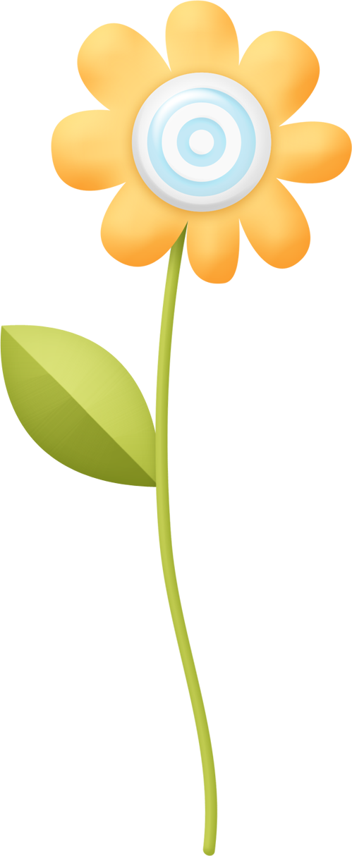 Spring flower clip art. Gardener clipart jardin