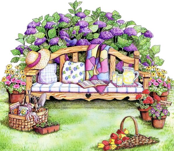 Gardener clipart jardin. Enchant belles images pinterest