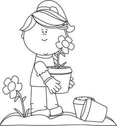 Gardening clipart black and white. Image result for garden