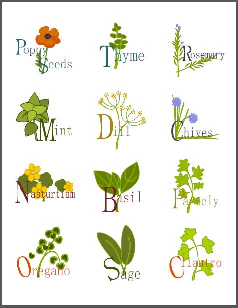 Label clipart garden. Herb clip art library